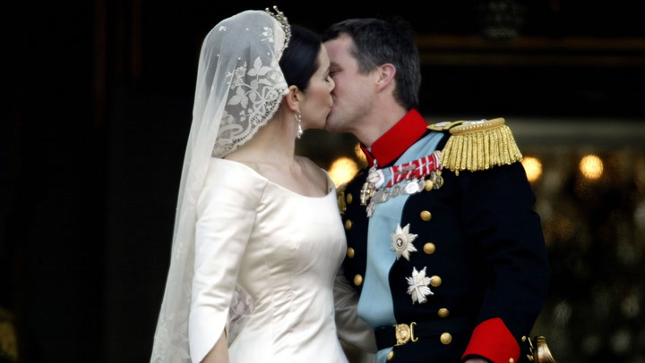 Crown Princess Mary and Prince Frederik of Denmark wedding day