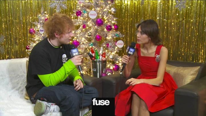 Ed Sheeran Backstage At Z100's Jingle Ball