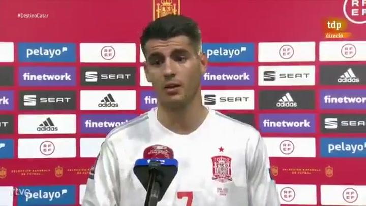"Álvaro Morata: ""Tenemos que sacar cosas positivas para evolucionar"""