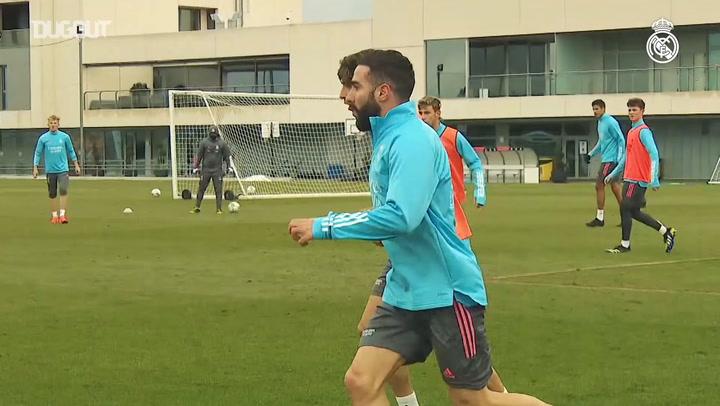El equipo prepara el partido contra el Alavés