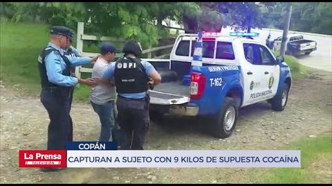 Capturan en Copán a sujeto con 9 kilos de supuesta cocaína