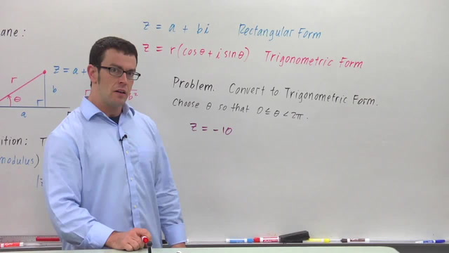 Converting Complex Numbers From Rectangular Form to Trigonometric - Problem 2