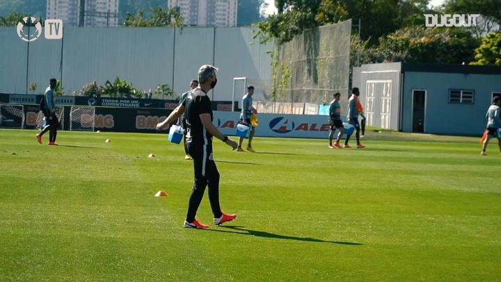 Corinthians training session at CT Joaquim Grava
