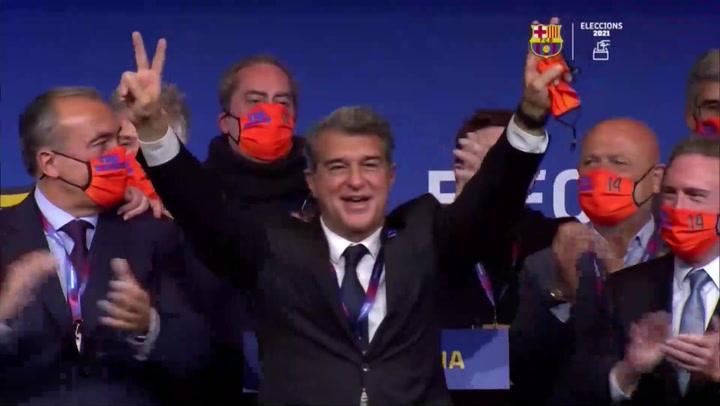 Laporta vuelve a la presidencia del Barcelona con el reto de convencer a Messi