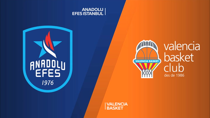 Resumen del Anadolu Efes Istanbul - Valencia Basket de Euroliga