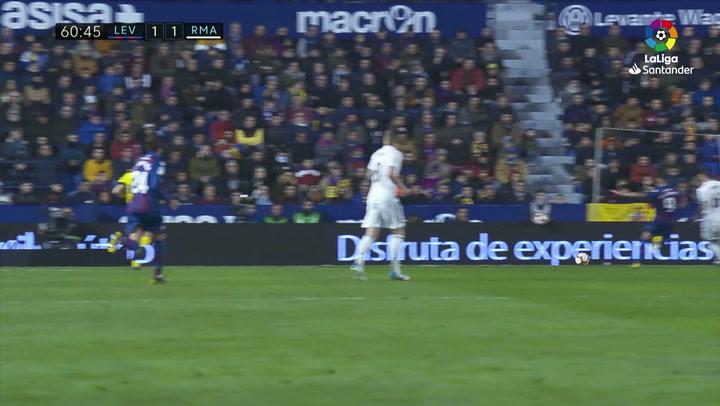 LaLiga: Levante - Real Madrid. Gol de Roger Martí en el minuto 60 (1-1)
