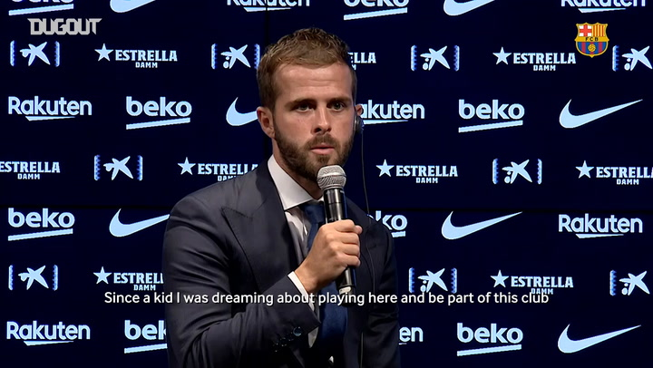 Pjanić's first words as FC Barcelona player