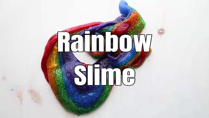 Easy To Make Rainbow Glitter Slime Little Bins For Little Hands