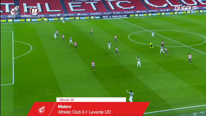Athletic Club and Levante draw 1-1 in first leg semi-final