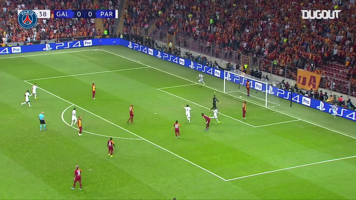 All PSG goals against Galatasaray in the 2019-20 Champions League season