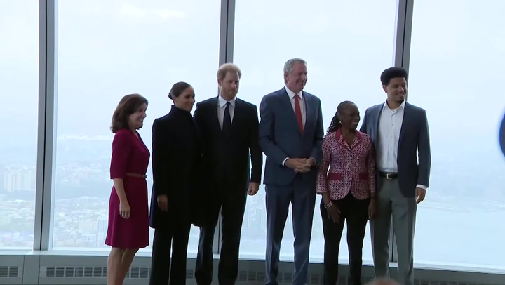 'Wonderful to be back': Meghan Markle and Prince Harry visit One WTC in New York