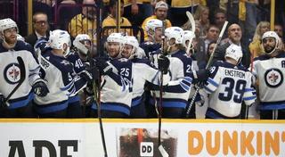 Winnipeg Jets On Game Seven Win Against Predators