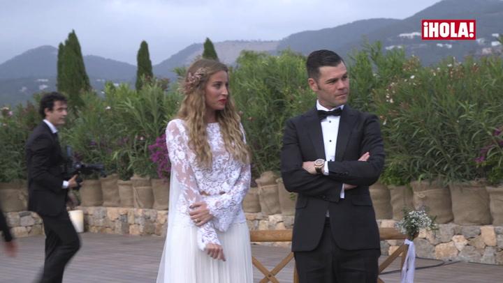 La original entrega de anillos en la boda de Fonsi Nieto y Marta Castro
