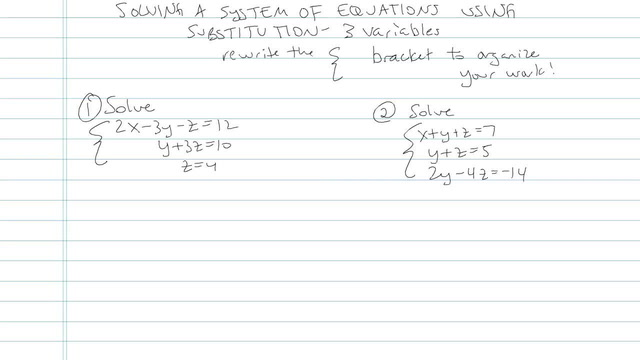 Solving Systems of Equations using Substitution - Problem 8