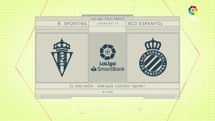 LaLiga SmartBank (J27): Resumen y goles del Sporting 1-1 Espanyol