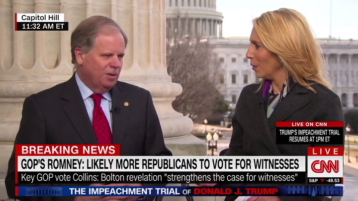 Dem Sen. Jones on Impeachment Trial: The American People Deserve to Hear from Those Witnesses'