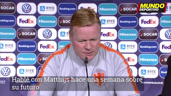 """Koeman: """"Hablé con De Ligt sobre su futuro, pero es secreto"""""""
