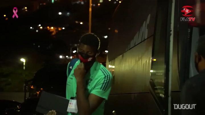 Bastidores da vitória do Flamengo sobre o Junior Barranquilla na Libertadores