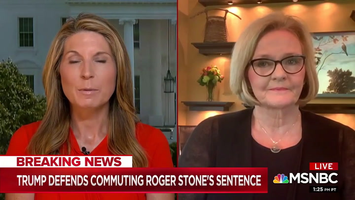 McCaskill: 'Republicans Will Lose the Senate' Over Trump's Roger Stone Commutation