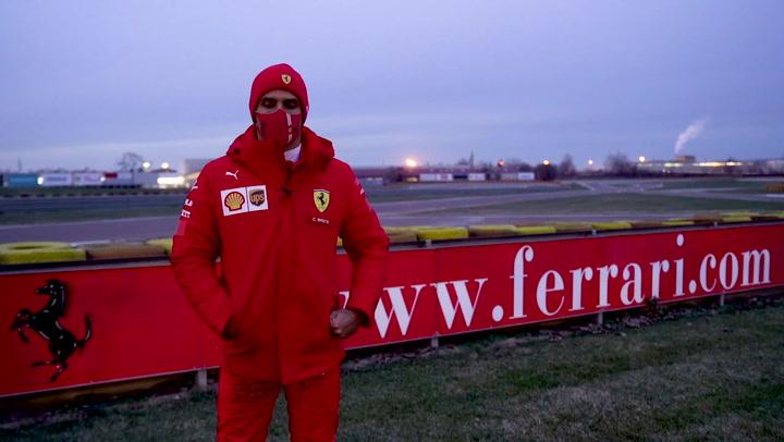 Las impresiones de Carlos Sainz tras su primer día en Ferrari