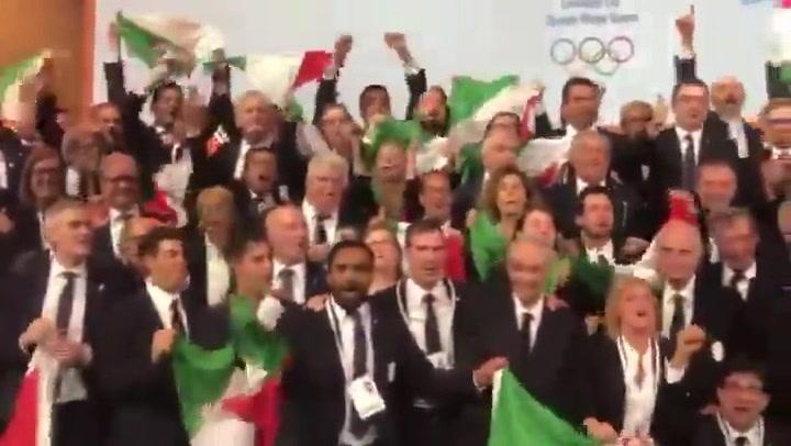 Así celebró la candidatura de Milán-Cortina su elección como sede de los Juegos de Invierno de 2026