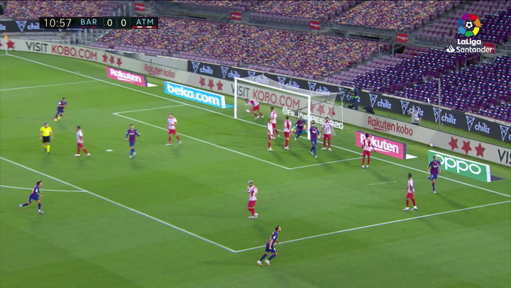 Gol de Diego Costa, p.p. (1-0) en el Barcelona 2-2 Atlético