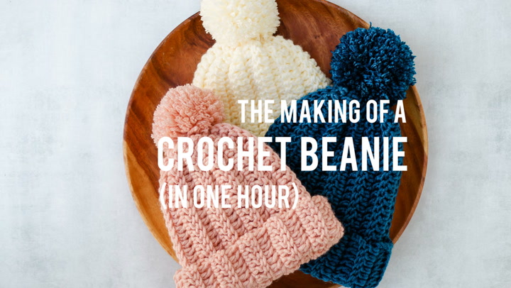The Making of a Crochet Beanie - In One Hour!