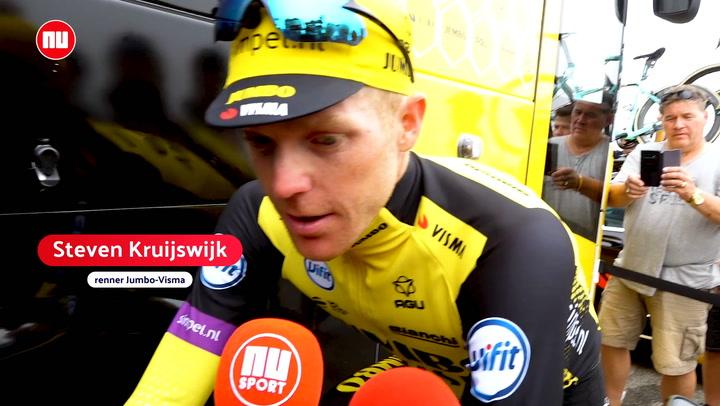 Kruijswijk moest 'enthousiaste' ploeggenoten kalmeren op de Tourmalet