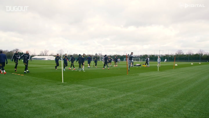 Arsenal train ahead of Olympiacos visit