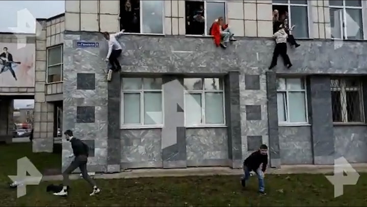 Russia university shooting: Students jump from windows to escape gunman