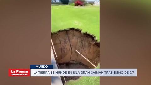 La Tierra se hunde en Isla Gran Caimán tras sismo De 7.7