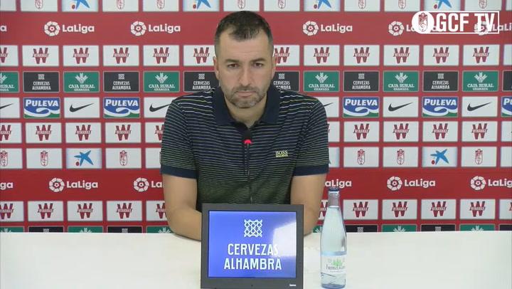 Rueda de prensa de Diego Martínez en la previa del Real Sociedad vs Granada CF, partido de la jornada 35 de LaLiga Santander.