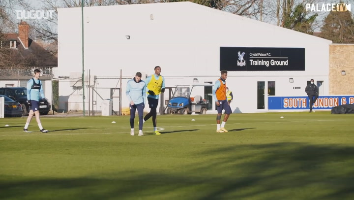 Best of Mateta in first Palace training