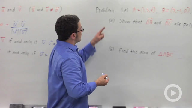 Vector Operations in 3D - Problem 1