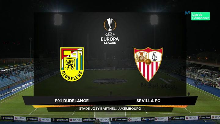 Europa League: Resumen y Goles del Dudelange - Sevilla