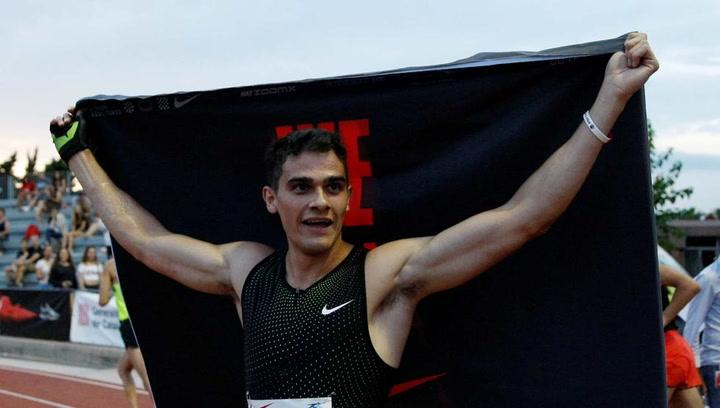 Bruno Hortelano bate el récord de España de 150m