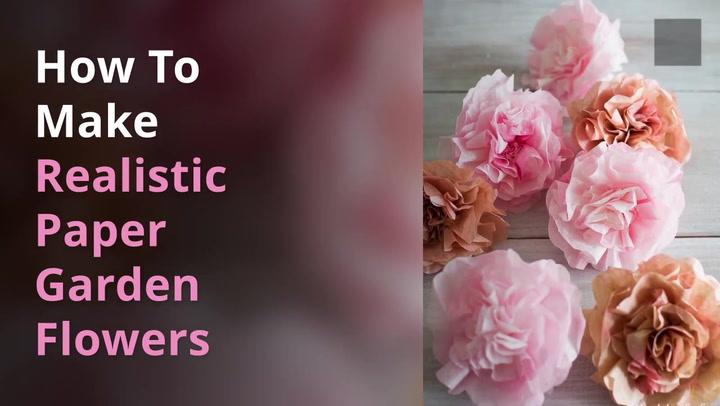 How to make realistic paper garden flowers shabbyfufu mightylinksfo
