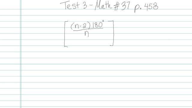 Test 3 - Math - Question 37