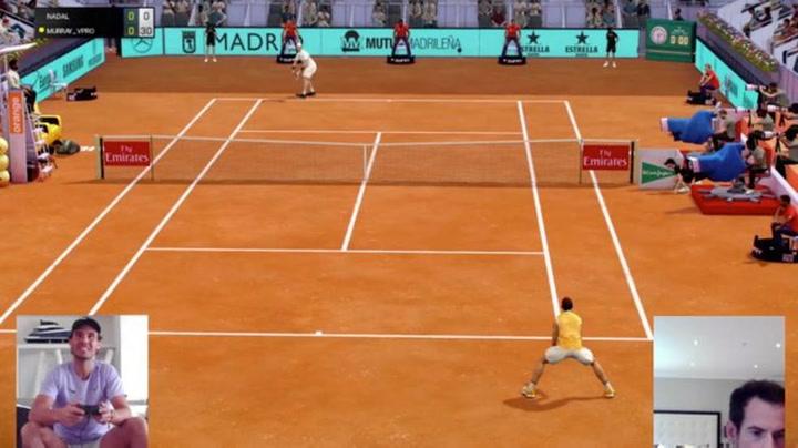 Andy Murray tritura a Rafa Nadal en el Mutua Madrid Virtual Open