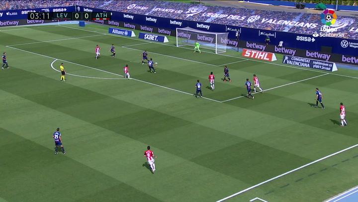 Gol de Raúl García (0-1) en el Levante 1-2 Athletic