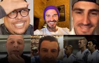 El reencuentro de los Galácticos del Real Madrid; Beckham, Figo, Ronaldo, Roberto Carlos y Casillas