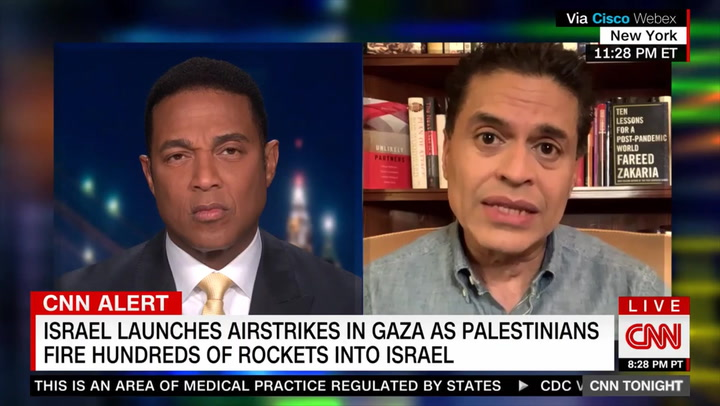 CNN's Zakaria: Israel-Palestine Conflict Can only Be Solved if Israel 'as a Matter of Morality,' Decides to 'Give Rights to Palestinians'