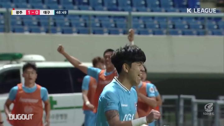 Kim Dae-won's sensational turn and finish against Gwangju