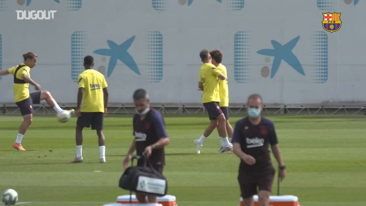 Barcelona's final session ahead of Espanyol clash