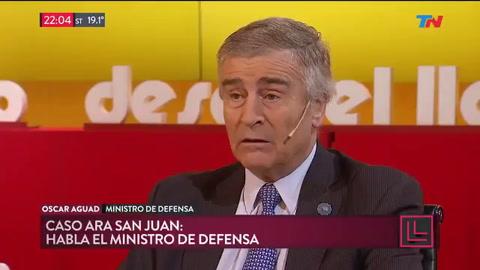 Aguad admitió que los tripulantes del ARA San Juan están muertos