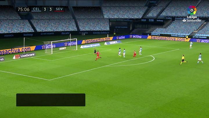Gol de Papu Gómez (3-4) en el Celta 3-4 Sevilla