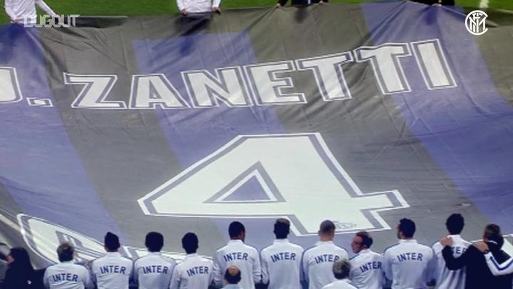 Javier Zanetti's last game at the San Siro