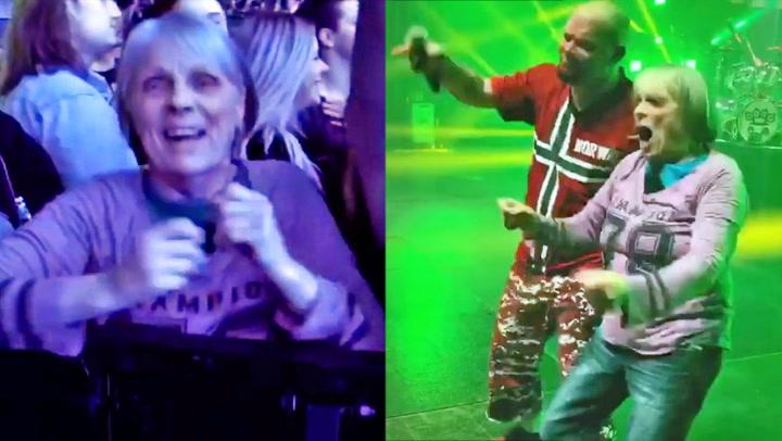 Jenny (70) ga metal-stjerner hakeslepp på Norges-konsert