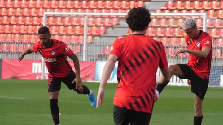 Partidillo del Atlético para probar el once de la cita ante el Athletic