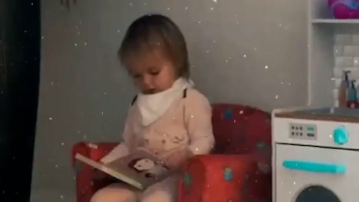 Gorka and Gemma melt hearts with adorable video of Mia reading